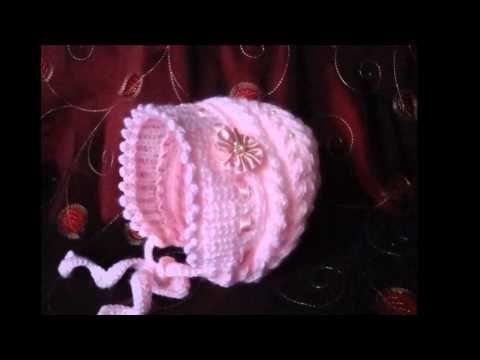 Gorro tejido a dos agujas para niñas - YouTube