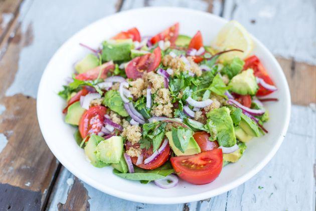 Amarant Salade met Snijbiet, Avocado en Koriander