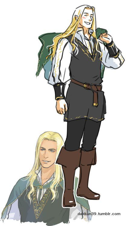 "Glorfindel from ""Lord of the Rings"" - Art by dakkun39.tumblr.com"