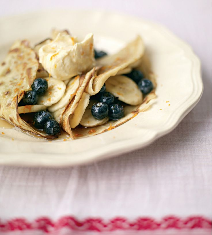 Blueberry, Banana and Mascapone pancakes. #Woolworths #MothersDay #Breakfast #Recipe #HappyMothersDay #Blueberry #Banana #Pancakes