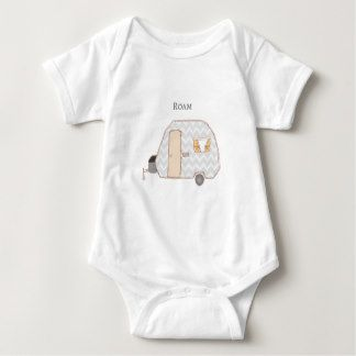 This vintage trailer baby onesie is so cute!  It's perfect for the happy camper or RV lover.