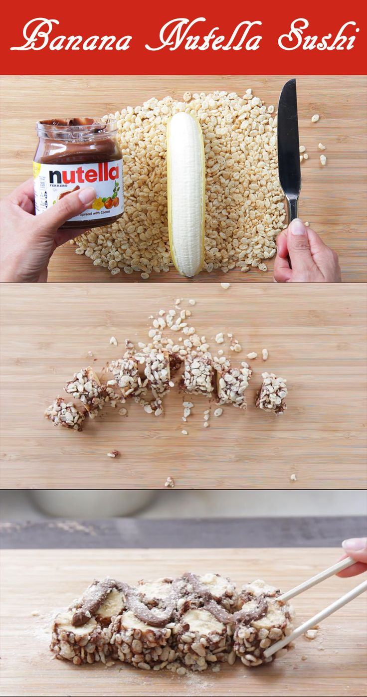 Recipe Video: Banana Nutella Sushi
