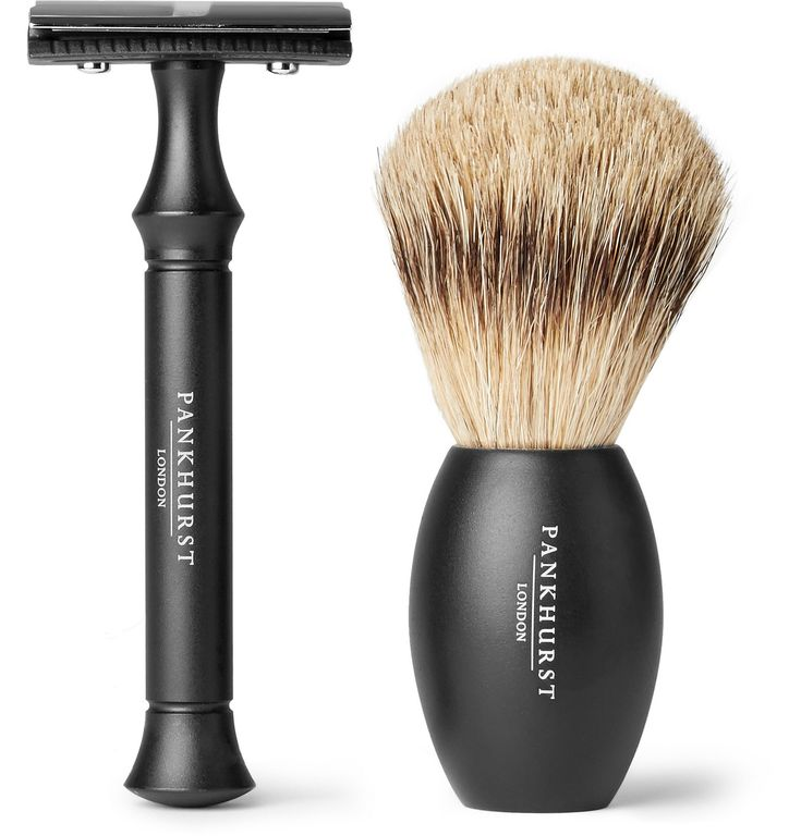 <b>Designed exclusively for MR PORTER.</b> Drawing on a wealth of grooming know-how, <a href='http://www.mrporter.com/mens/Designers/Pankhurst London'>Pankhurst London</a> is on a mission to make your grooming regimen effortless and a pleasure. This slick razor and brush set makes an ideal gift for men who prefer a clean shave the old fashioned way. <br><br> - Safety razor and brush