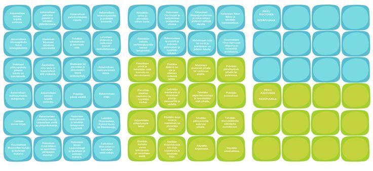 Tulostettavat kesäpuuhaat kortteina | lasten | askartelu | kesä | käsityöt | koti | printable ideas for kids summer activity| DIY ideas | kid crafts | summer | home | Pikku Kakkonen