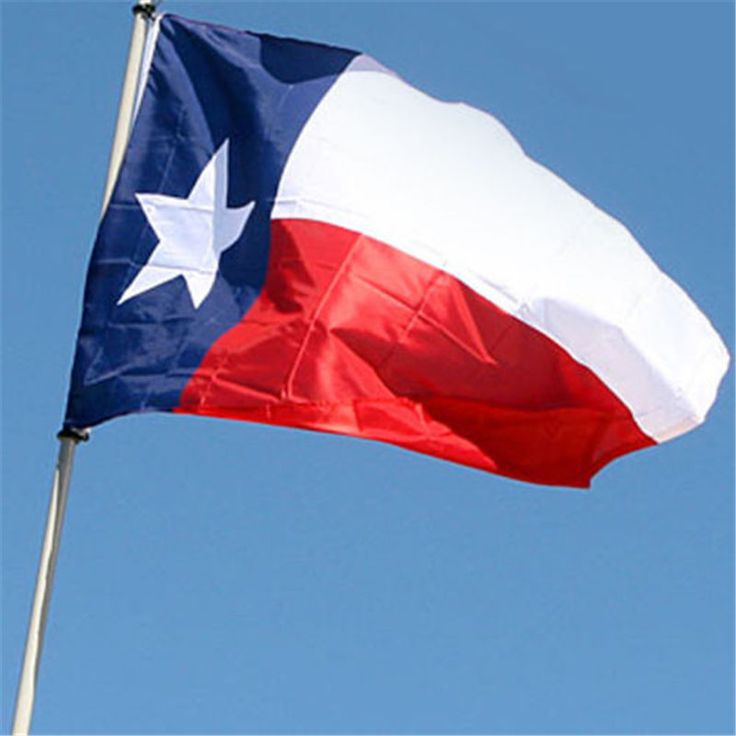 Polyester TEXAS STATE FLAG Lone Star TX USA Grommets Red White Blue 3'x5''