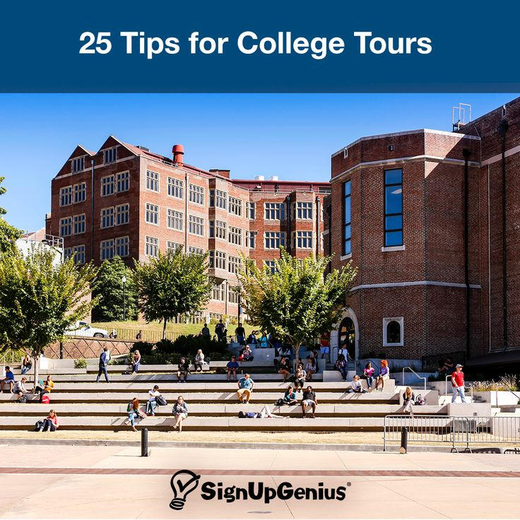 25 Tips for Taking College Tours. Ideas and questions to make the most of your campus visit.