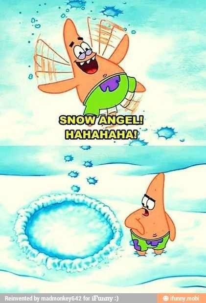 Patricks face though... Spongebob