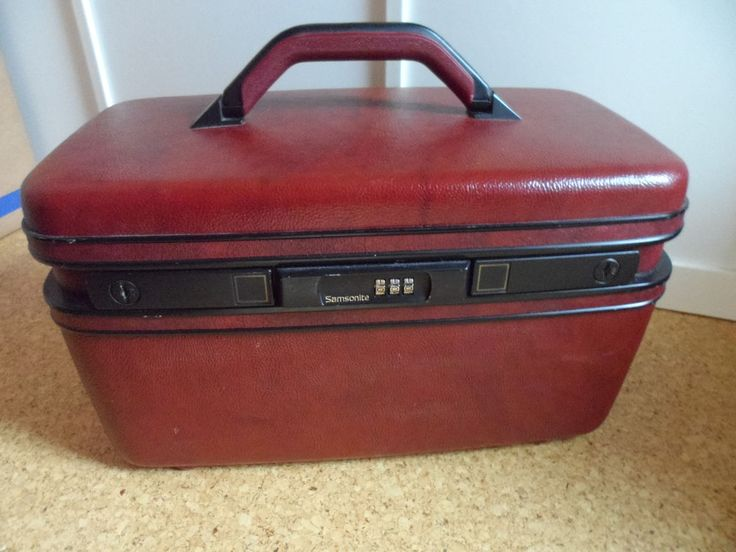 Samsonite Beautycase Rot Bordeaux Kosmetikkoffer Beauty Case Vintage gebraucht