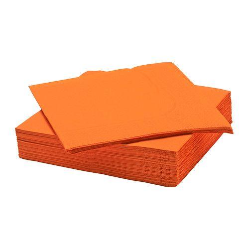 Serwetki pomarańczowe duży rozmiar 40x40 cm http://vinetti.pl/search.php?text=serwetki