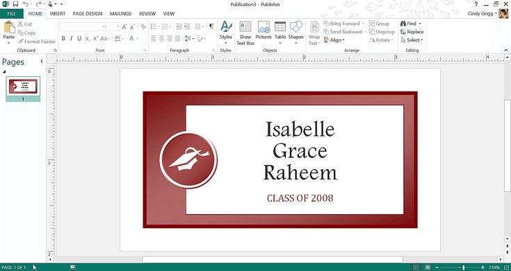 Microsoft's Best Templates for Honoring Graduates: Graduation Name Tag Template for Microsoft Publisher or Word