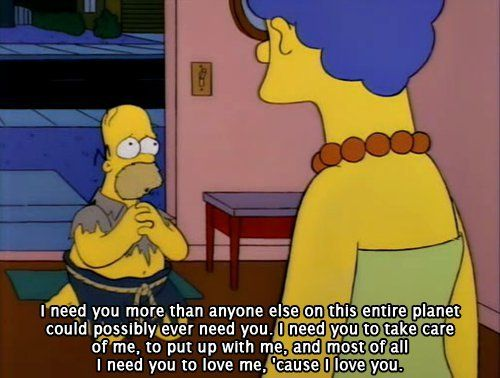 I've never really watched The Simpsons, but this is cute :]