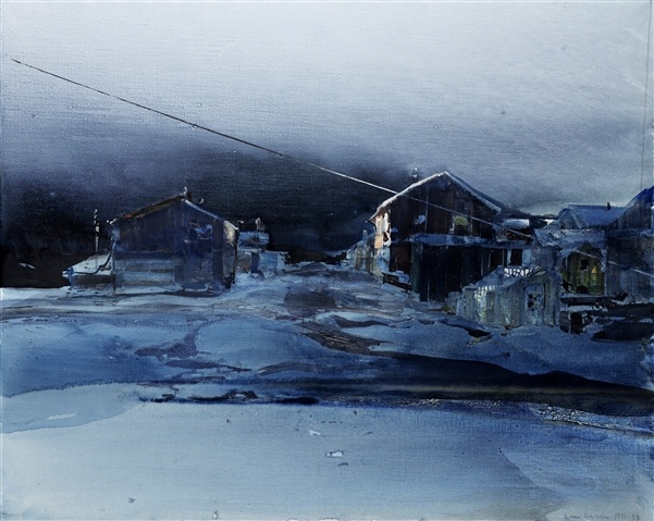 Lars Lerin (Swedish painter), watercolor