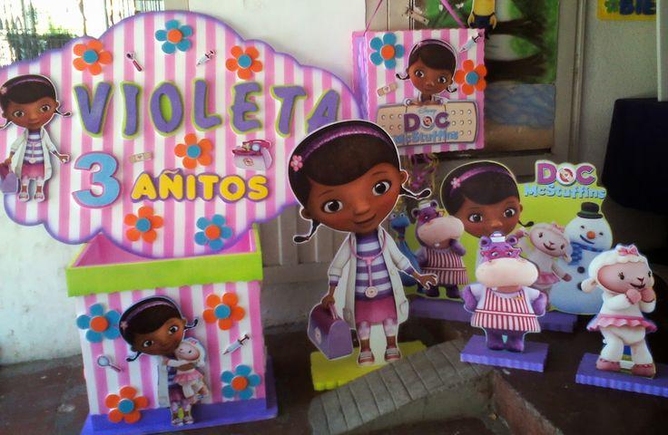 monkey piñateria: decoracion en icopor doctora juguetes