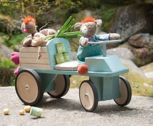 ride on toy, ride on car, riding wagon, riding tractor, green toys, pvc free, ride-on-toys, sustainable wood, riding toys, toddler toys, toddler car, toddler wagon