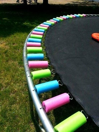 trampoline spring covers from pool noodles how-to diy