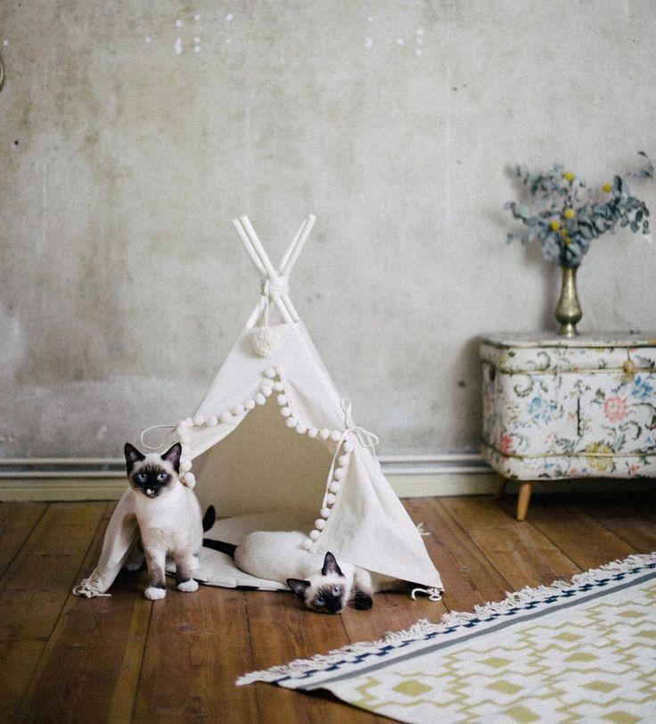 Etsy - Wohnen. Tippi, Zelt, Katzen, Home, Dekoration