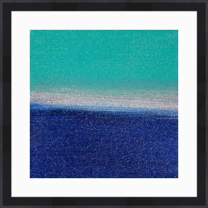 Quadro com moldura Abstrato Sunset 4 (Hilary Winfield) #quadro #moldura #canvas #poster #decoração #abstrato #azul
