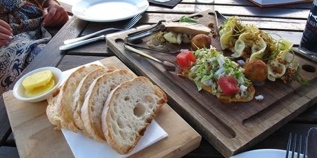 Lunch from the Epicurean Centre at Brown Brothers winery.