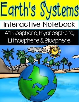 After incorporating interactive notebooks in every other subject I teach, I decided I couldnt exclude science! This package includes 25 interactive notebook activities for Earths Systems, Earths 4 Spheres (atmosphere, hydrosphere, lithosphere, and biosphere).
