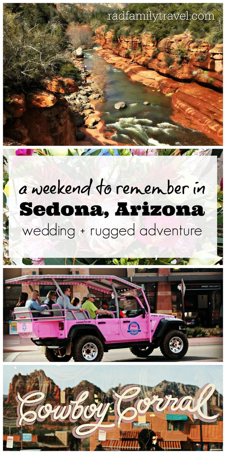 Thinking of visiting Sedona, Arizona? Shopping, galleries, and restaurants. Rugged jeep, hiking, and biking adventures in the Red Rocks. An intimate wedding at the luxurious L'Auberge, a gorgeous scenic drive to Flagstaff, and Slide Rock made for a fabulous long weekend!