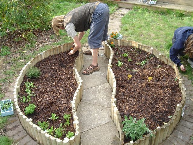 I LIKE THE IDEA OF USING THIS BORDER FOR A RAISED BED VEGETABLE GARDEN RATHER THAN BRICK
