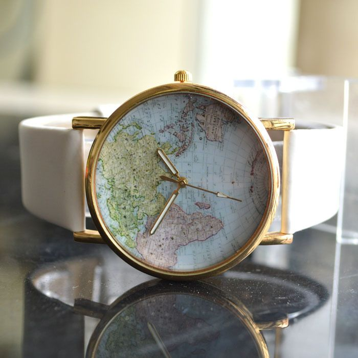 Aliexpress.com : Buy Fashion Vintage World Map Watch Women Dress Watches Leather Quartz Casual Wristwatches Ladies Rhinestone Hours New 2016 from Reliable rhinestone lanyard suppliers on CHUAN SHENZHEN's store  | Alibaba Group