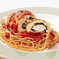 Spinach-Chicken Breast Rolls