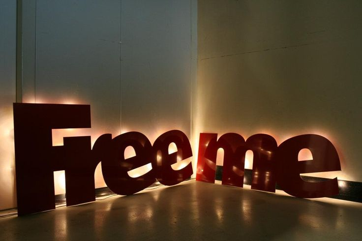 """Free Me"" Dibond With LED - © Stephan Muis"