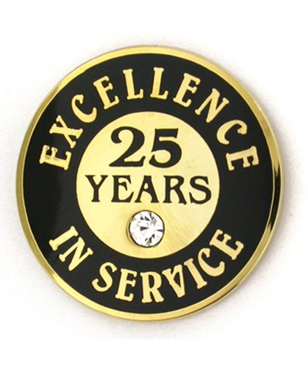 White PinMart 5 Years of Service Award Employee Recognition Gift Lapel Pin