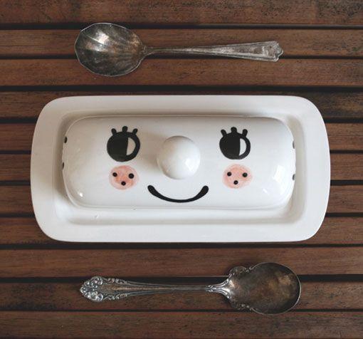 again, adorable.Kitchens, Nez Butter, Bassen Illustration, Tuesday Bassen, Le Nez, Tuesdaybassen, Things, Butter Dishes, Bassen Ceramics