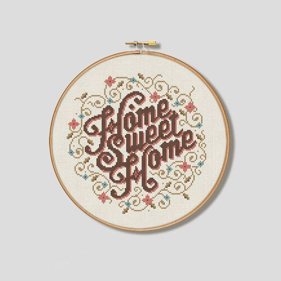 Always a classic! Weve given this well known cross stitch sentiments a modern twist with beautiful typography and floral detail. The pattern also includes whole stitches only, making it suitable for all levels.    This is the classic colour version which is best suited to cream or antique white aida.   It measures 108 sitches wide x 109 stitches high giving a finished stitched area of:    14 ct aida - 7¾x 7¾ (19 x 19 cm)  16 ct aida - 6¾x 6¾ (17 x 17 cm)    This is a PDF file of a cross…