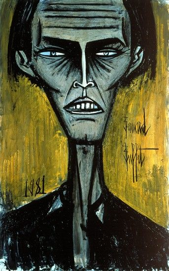 Bernard Buffet, Autoportrait n° 11, 1981 Successful abstraction of a human face yet it still looks like a definable person.