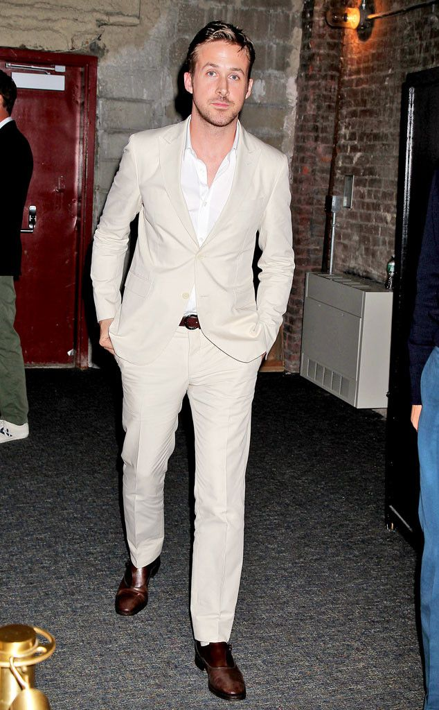 Hey girl, I picked out this beige suit especially for you. What do you think?