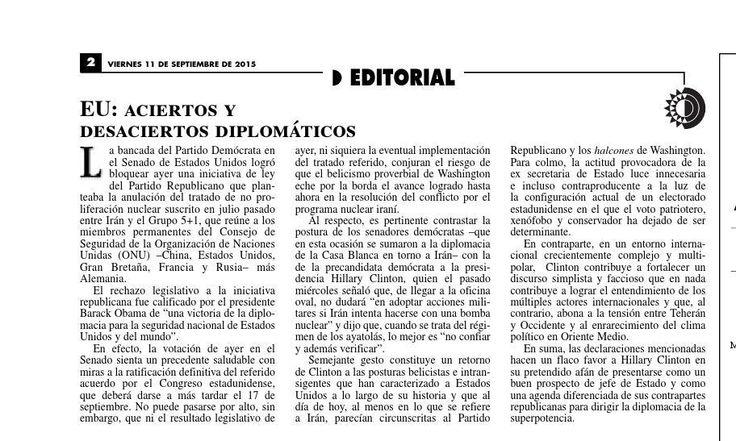 #ClippedOnIssuu from La Jornada, 09/11/2015