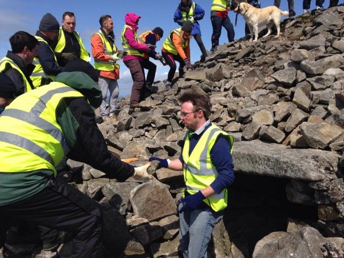 Martin Keery - Volunteering to repair Slieve Gullion Passage Tomb