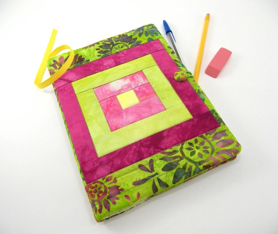Quilted Journal Cover Fabric Composition by SonyaBensonQuilts, $20.00