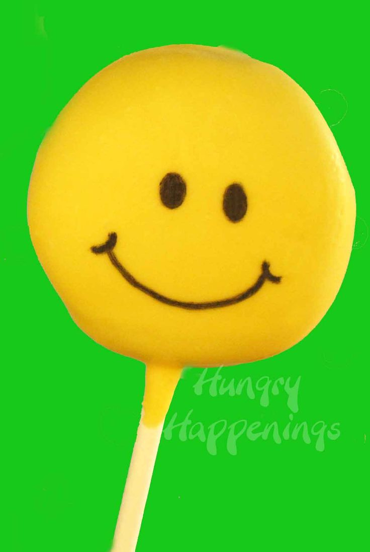Simple Smiley Face Lollipops made from Oreo Cakesters - Hungry Happenings