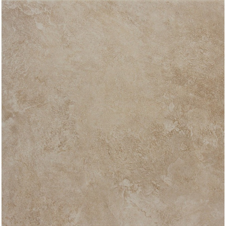 Style Selections 18 X 18 Sienna Almond Glazed Porcelain