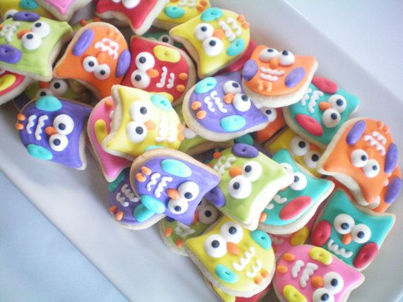 Mini Owl Cookies by StephanieJscreations on Etsy