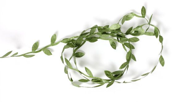 5 Yards Artificial Green Silk Leaves, Garland, Flower Crown Leaf, Embossed Fabric Leaf, Floral Supplies, Artificial Wedding Floral Supplies
