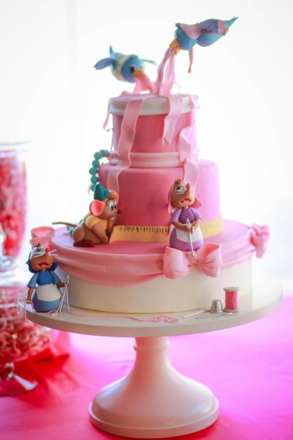 Cinderella Cake with Sugar Mice and Gravity Defying Birds - Cake by Alex Narramore (The Mischief Maker)