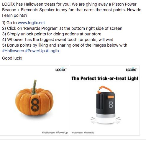 Halloween #contest alert! Earn some treats on www.logiix.net #HappyHalloween #Halloween #PistonPowerBeacon #pumpkin