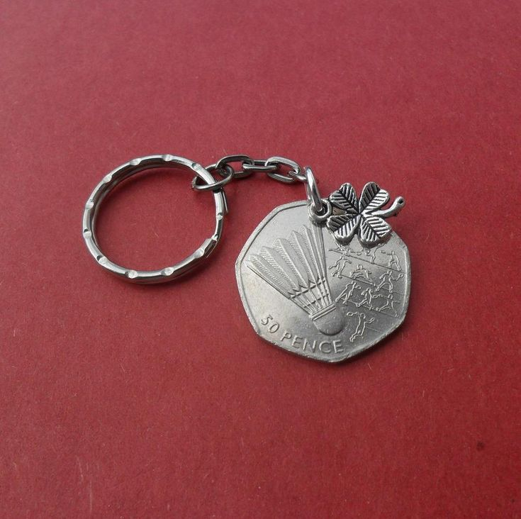 Athletics coin Badminton #keyring #Olympics Great Britain 2011 original 50 #pence,  View more on the LINK: http://www.zeppy.io/product/gb/3/237983259/