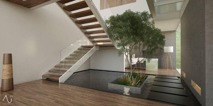 Escaleras: Pasillo, hall y escaleras de estilo Minimalista por 21arquitectos