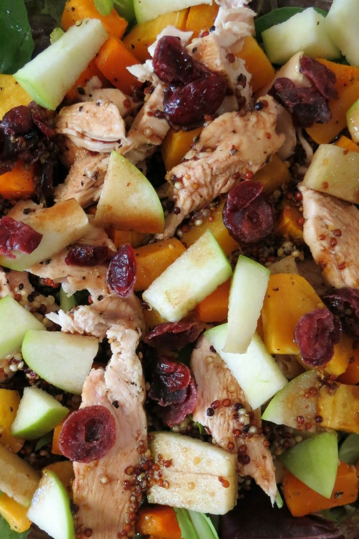 Fall Harvest Butternut Squash Chicken Salad with Maple Dressing ...