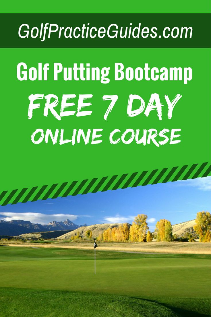 Best golf putting tips and golf putting drills. Join the free 7 day putting eCourse and get lesson 1 immediately. Once you complete this course you'll feel more confident as well as see your putting skills improved. Start sinking more putts inside 10 feet and quit 3 putts by joining the golf practice guides 7 day putting bootcamp!