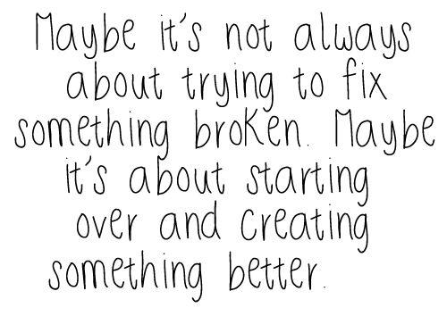 Starting Over!