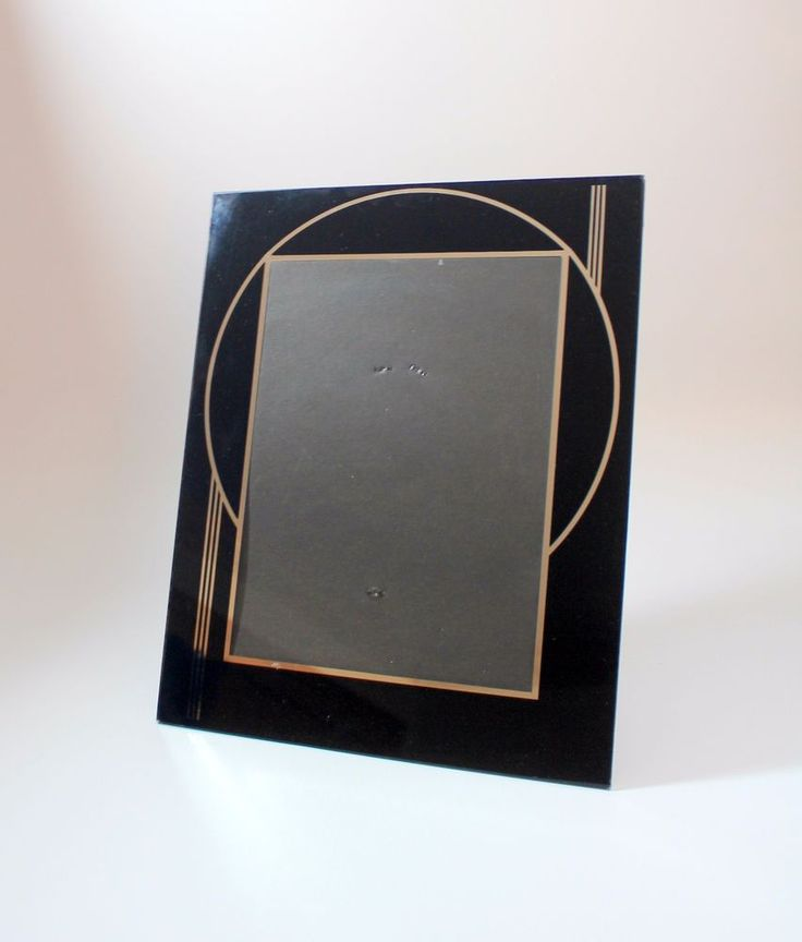 Vintage Art Deco Reverse Paint Picture Frame Holds 8x10