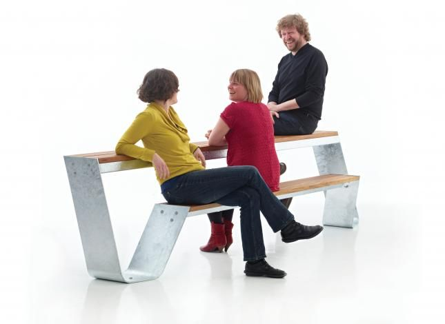 Extremis Bench And Table Combo For Gardens Or Balconies