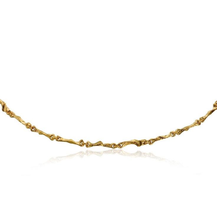 RANNIO Gold Necklace / Design Björn Weckström / Lapponia Jewelry / Handmade in Helsinki